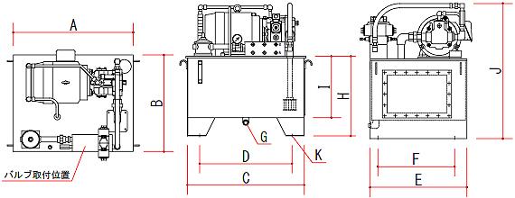 標準タンク寸法表
